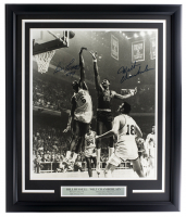 "Bill Russell & Wilt Chamberlain Signed 22x27 Custom Framed Photo Display Inscribed ""1/94"" (Beckett LOA) at PristineAuction.com"