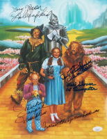 """""""The Wizard of Oz"""" 11x14 Photo Print Cast-Signed by (4) with Karl Slover, Mickey Carroll, Jerry Maren & Donna Stewart-Hardway with (5) Character Inscriptions (JSA COA) at PristineAuction.com"""
