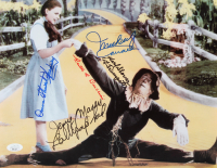 """""""The Wizard of Oz"""" 11x14 Photo Cast-Signed by (5) with Ruth Duccini, Karl Slover, Mickey Carroll, Jerry Maren & Donna Stewart-Hardway with (2) Inscriptions (JSA COA) at PristineAuction.com"""
