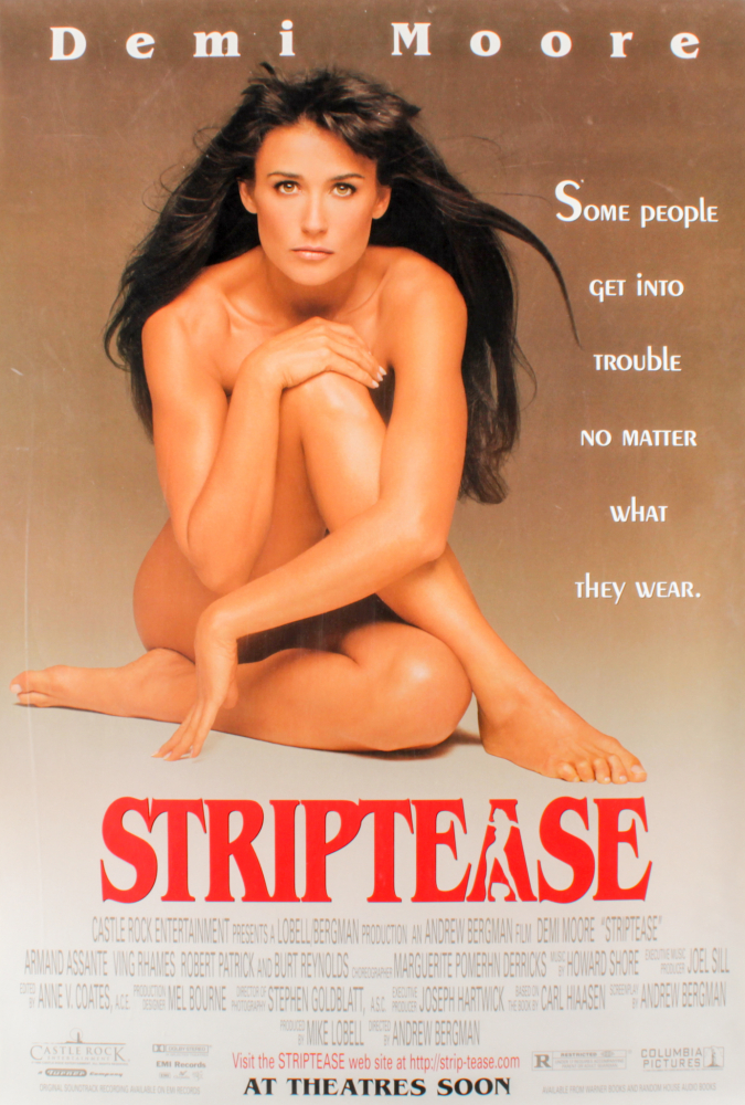 """""""Striptease"""" 27x40 Movie Poster at PristineAuction.com"""