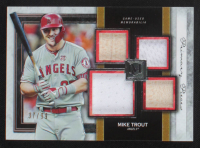 Mike Trout 2020 Topps Museum Collection Primary Pieces Quad Relics #SPQRMT #37/99 at PristineAuction.com