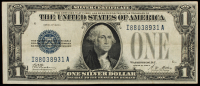 1928 $1 One Dollar Blue Seal Silver Certificate at PristineAuction.com