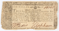 1774 $1 One Dollar - Maryland - Colonial Currency Note at PristineAuction.com