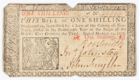 1776 1s. One Shilling - New Jersey - Colonial Currency Note at PristineAuction.com