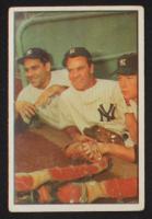 1953 Bowman Color #44 Yogi Berra / Hank Bauer / Mickey Mantle at PristineAuction.com