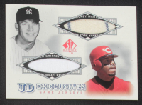 Mickey Mantle / Ken Griffey Jr. 2001 SP Authentic UD Exclusives Game Jersey Combos #MG SP at PristineAuction.com