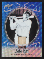 Babe Ruth 2019 Leaf Metal Babe Ruth Collection Bats Wave Blue #SB14 #3/5 at PristineAuction.com
