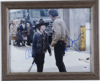 "Andrew Lincoln & Chandler Riggs Signed ""The Walking Dead"" 13x16 Custom Framed Photo Display (PSA COA) at PristineAuction.com"