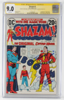 "1973 ""Shazam!"" Issue #1 DC Comic Book Signed by (4) with Zachary Levi, Michael Gray, John Davey & Asher Angel with Multiple Inscriptions (CGC 9.0) at PristineAuction.com"