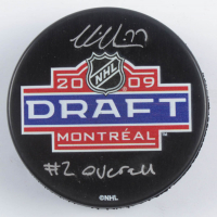 "Victor Hedman Signed 2009 NHL Draft Logo Hockey Puck Inscribed ""#2 Overall"" (Hedman COA) at PristineAuction.com"