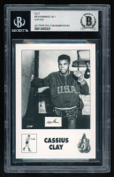 Muhammad Ali Card with (1) Hand-Written Word (BGS Encapsulated & Beckett LOA) at PristineAuction.com
