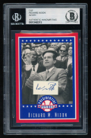 Richard Nixon Card with (1) Hand-Written Word (BGS Encapsulated & Beckett LOA) at PristineAuction.com