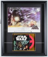 """Vintage 1977 """"Star Wars"""" 16x18.5 Custom Framed 8mm Film Reel Display at PristineAuction.com"""