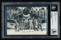 Pappy Boyington Card with (1) Hand-Written Word (BGS Encapsulated & Beckett LOA) at PristineAuction.com