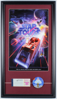 "Disneyland Tomorrowland ""Star Tours"" 15.26.5 Custom Framed Print Display with Vintage Ticket Booklet & Star Tours Pin at PristineAuction.com"