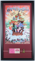 "Disneyland ""Splash Mountain"" 15x26 Custom Framed Poster Display with Vintage Ticket Booklet & Vintage Splash Mountain Pin at PristineAuction.com"