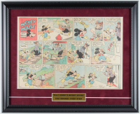 "1935 Original Disney ""Mickey Mouse"" Comic Strip 15.5x19 Custom Framed Display at PristineAuction.com"
