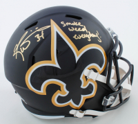 """Ricky Williams Signed Saints Full-Size AMP Alternate Speed Helmet Inscribed """"Smoke Weed Everyday!"""" (Beckett COA) at PristineAuction.com"""