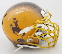 Josh Allen Signed Wyoming Broncos Full-Size Authentic On-Field Hydro-Dipped Helmet (Beckett COA) at PristineAuction.com