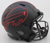 "Tremaine Edmunds Signed Bills Full-Size Authentic On-Field Eclipse Alternate Speed Helmet Inscribed ""Bills Mafia"" (Beckett COA) at PristineAuction.com"