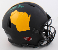 Davante Adams Signed Packers Full-Size Authentic On-Field Matte Black Speed Helmet (JSA COA) at PristineAuction.com