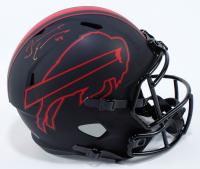 Tremaine Edmunds Signed Bills Full-Size Eclipse Alternate Speed Helmet (Beckett COA) at PristineAuction.com