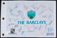 2010 The Barclays 13x19 Flag Signed by (29) with Jason Day, Vijay Singh, Marc Leishman, Ian Poulter (JSA LOA) at PristineAuction.com