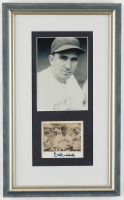 Carl Hubbell Signed Giants 10x16.5 Custom Framed Photo Display (JSA COA) at PristineAuction.com