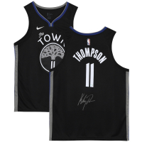 Klay Thompson Signed Warriors Jersey (Fanatics Hologram) at PristineAuction.com