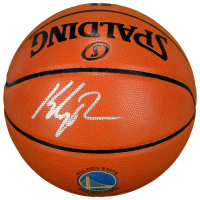 Klay Thompson Signed Warriors Logo Basketball (Fanatics Hologram) at PristineAuction.com