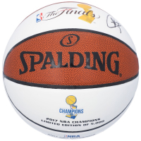 Stephen Curry Signed NBA Finals Logo Basketball (Fanatics Hologram) at PristineAuction.com