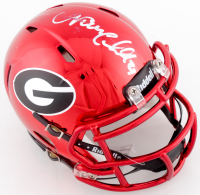 Nick Chubb Signed Georgia Bulldogs Chrome Speed Mini Helmet (JSA COA) at PristineAuction.com