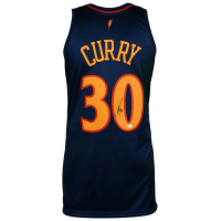 Stephen Curry Signed Warriors Throwback Jersey (Fanatics Hologram) at PristineAuction.com