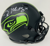 DK Metcalf Signed Seahawks Eclipse Alternate Full-Size Speed Helmet (Fanatics Hologram) at PristineAuction.com