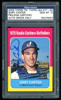 Gary Carter Signed 2002 Topps Team Topps Legends #TT-GC (PSA Encapsulated) at PristineAuction.com