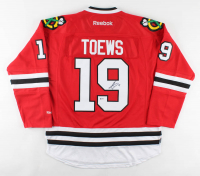 Jonathan Toews Signed Blackhawks Captain Jersey (Beckett COA) at PristineAuction.com
