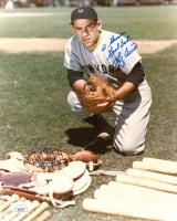 "Yogi Berra Signed Yankees 8x10 Photo Inscribed ""Good Luck"" (JSA COA) at PristineAuction.com"