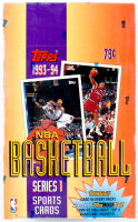 1993-94 Topps NBA Basketball Series 1 Card Box with (36) Packs of Cards at PristineAuction.com