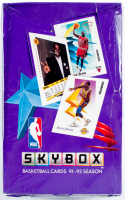 1991-92 Skybox Premium NBA Basketball Box of (36) Packs at PristineAuction.com