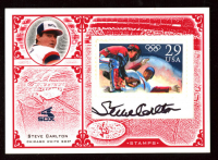 Steve Carlton 2005 Leaf Century Stamps Material Olympic Jersey at PristineAuction.com