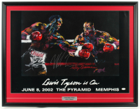 "Mike Tyson Signed ""Lewis Tyson is On"" 27x35 Custom Framed LeRoy Neiman Print Display (PSA COA) at PristineAuction.com"