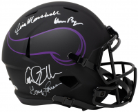 """Vikings """"Purple People Eaters"""" Full-Size Eclipse Alternate Speed Helmet Signed by (4) with Carl Eller, Alan Page, Gary Larsen & Jim Marshall (Beckett COA) at PristineAuction.com"""