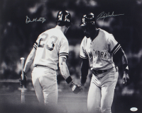 Rickey Henderson & Don Mattingly Signed Yankees 16x20 Photo (JSA COA) at PristineAuction.com