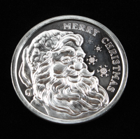 2009 Merry Christmas 1 Oz. .999 Silver Bullion Round at PristineAuction.com
