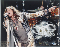 Steven Tyler Signed Aerosmith 11x14 Photo (Beckett COA) at PristineAuction.com