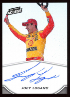 Joey Logano Autographed 2019 Panini Instant Access Card PSM at PristineAuction.com