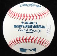 """Greg Bird Signed OML Baseball Inscribed """"MLB Debut 8/13/15"""" (JSA Hologram) at PristineAuction.com"""