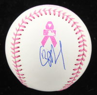 JP Crawford Signed OML Breast Cancer Awareness Logo Baseball (JSA Hologram) at PristineAuction.com