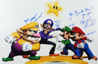 "Charles Martinet Signed ""Super Mario"" 12x18 Photo With Multiple Inscriptions (JSA COA) at PristineAuction.com"