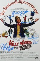 """Willy Wonka & The Chocolate Factory"" 12x18 Photo Signed By (4) With Peter Ostrum, Paris Themmen, Denise Nickerson & Julie Dawn Cole Inscribed ""Mike TeeVee"" & ""Violet"" (JSA COA) at PristineAuction.com"